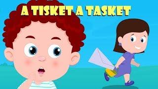 A Tisket A Tasket | Schoolies Cartoons | Kindergarten Videos For Children by Kids Channel