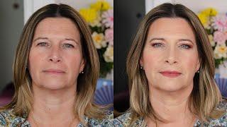 Maquillage rajeunissant et glamour / Relooking de Véronique 52 ans