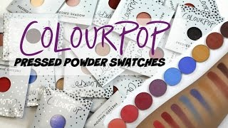 NEW Colourpop Pressed Powders - Eyeshadow Swatches