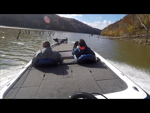 Bass Fishing At Cave Run Lake With TVD'S Crazy Skeeter Boat Ride