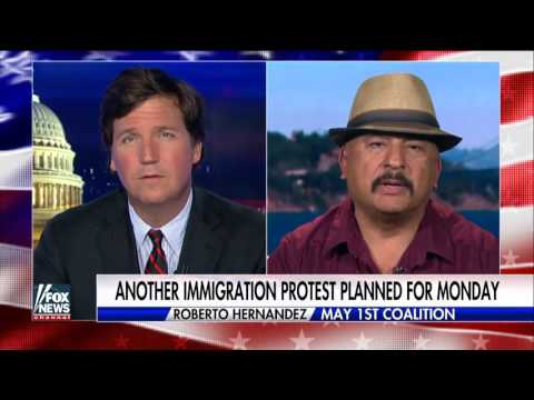 Tucker Carlson Apr 27, 2017 -Trump'  Activist Spars With Tucker Over Illegal Immigrant Rights