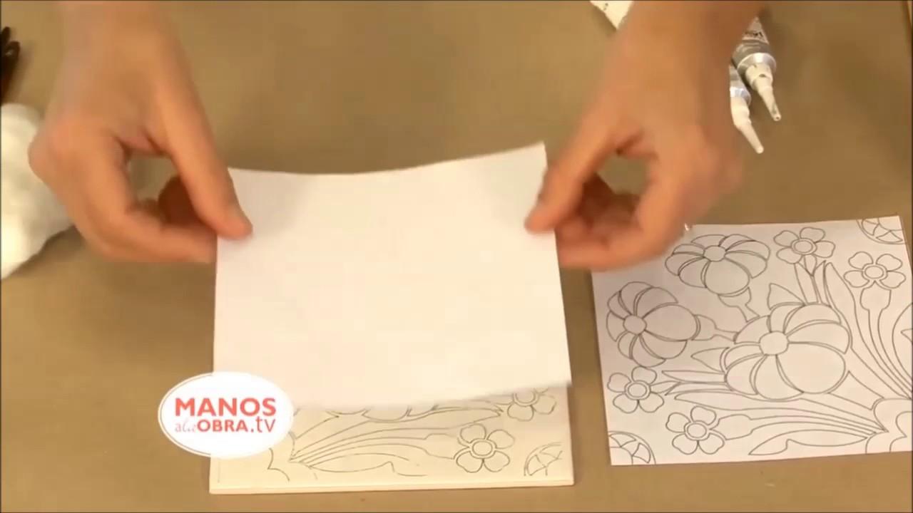 d9d6458e060 Como transferir un diseño a un azulejo - YouTube