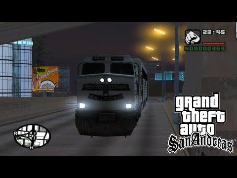 GTA San Andreas: Train On Street MOD Showcase