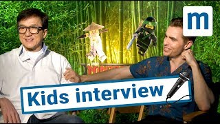 Jackie Chan & Dave Franco answer kids questions | Mumsnet and Lego Ninjango Movie