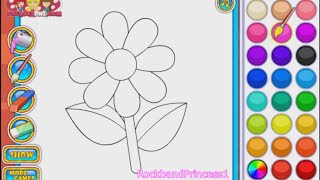 Flower Coloring Games