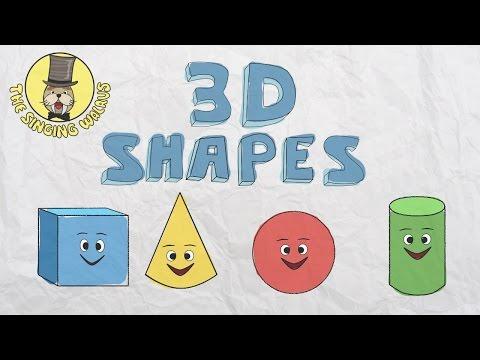 3D Shapes Song  Shapes for kids  The Singing Walrus