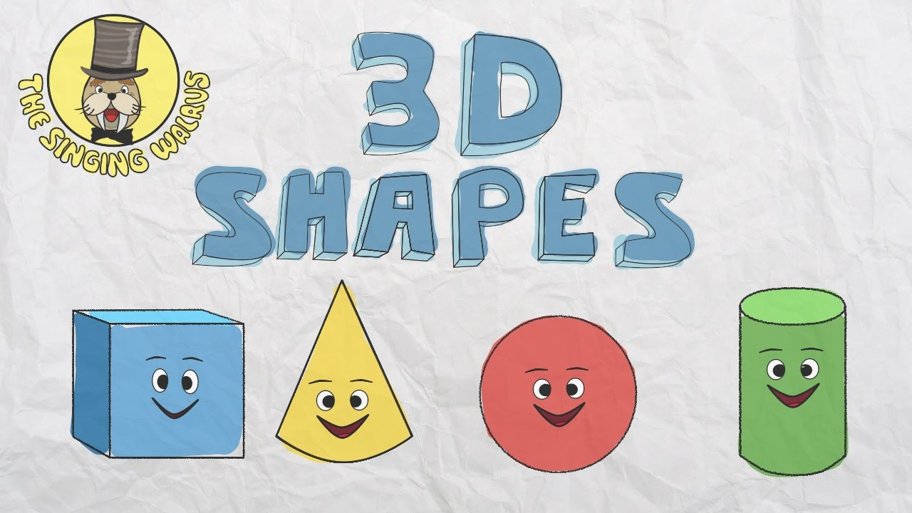 3D Shapes Song   Shapes for kids   The Singing Walrus - YouTube [ 720 x 1280 Pixel ]