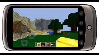 Minecraft на сенсорном телефоне.