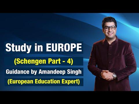Study in Europe (Schengen Part - 4) Guidance by Amandeep Singh(European Education Expert)
