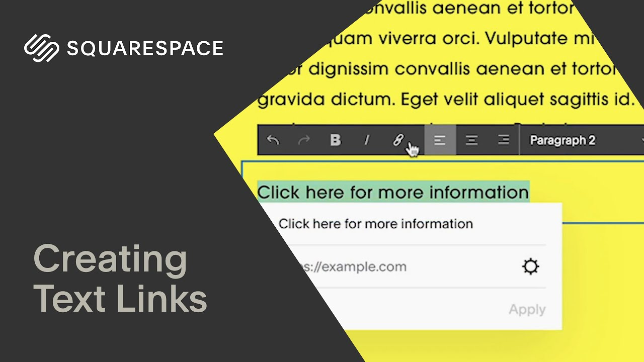 Creating Text Links Tutorial | Squarespace 7.1