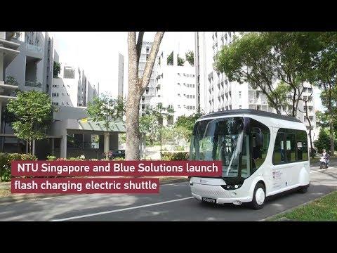 NTU Singapore and BlueSG launch flash-charging electric shuttle