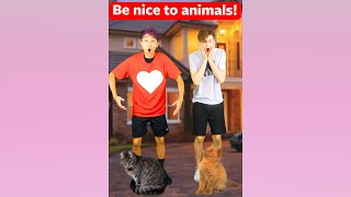 Be NICE To ANIMALS! ❤ #shorts