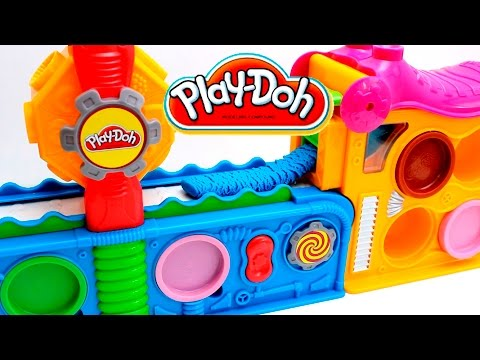 Play Doh Fun Factory Machine Play Doh Mega Fun Factory Machine Play Dough Toy Videos