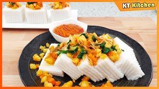 BÁNH ĐÚC MẶN Mềm Dẻo Béo Thơm - Cách Pha Nước Mắm Ăn Bánh Đúc Ngon Cực Kỳ- Savory Coconut Rice Cake