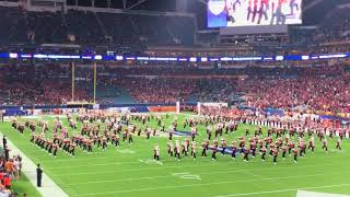 University of Wisconsin marching band the 2017 Orange Bowl