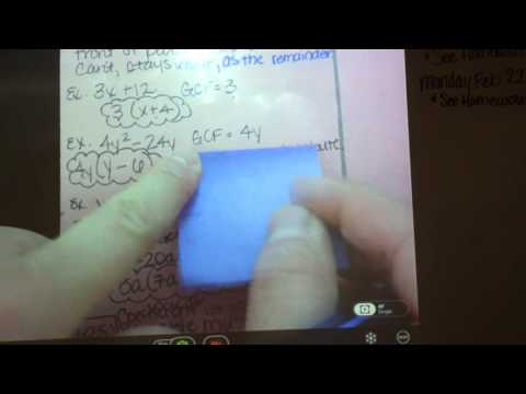 Factoring Polynomials with Greatest Common Factor (GCF)