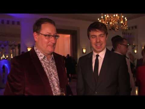 Radio Times Covers Party 2014  Chris Chibnall and Andrew Buchan
