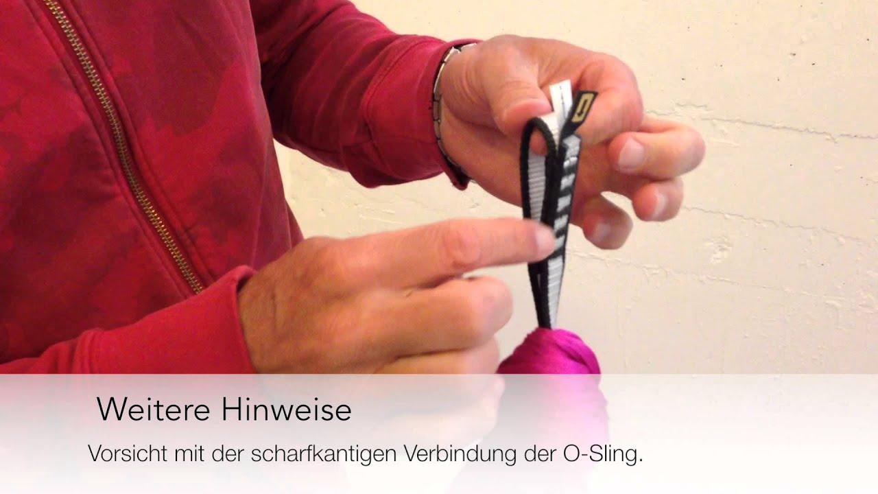 Aerial Yoga Tuch Knoten Und Installation Youtube
