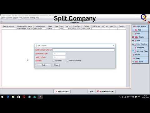 QS | How to Split Company or Create New Company | Hindi | Video Tutorial thumbnail
