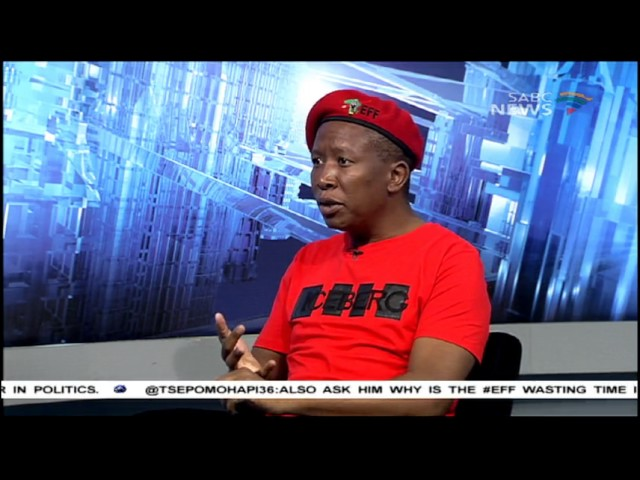 South African EFF leader Julius Malema speaks to Question Time.
