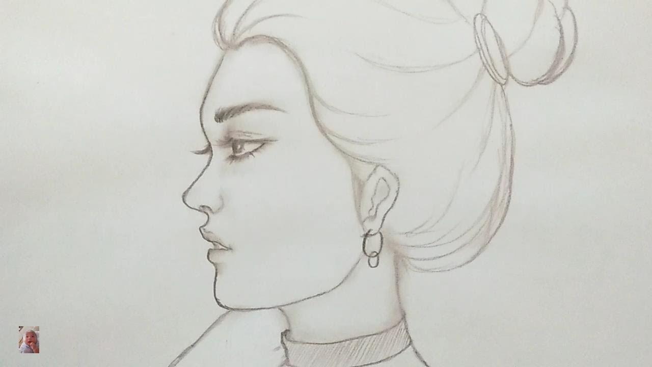 Vẽ gái xinh cực dễ chỉ bằng bút chì – Drawing pretty girls is easy with a pencil.