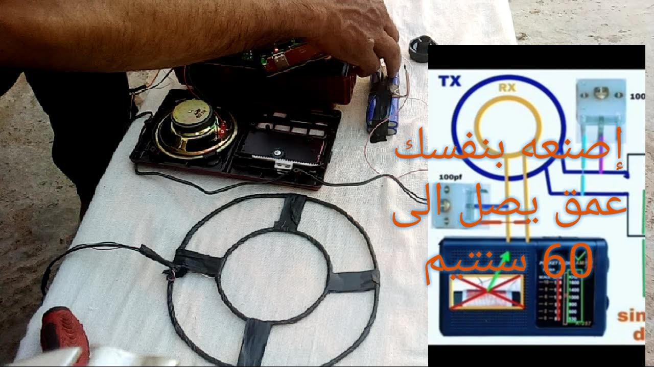 طريقة صنع كاشف المعادن العمق 40 سنتم بجهاز الراديو Youtube Electronic Products Earbuds Home Appliances