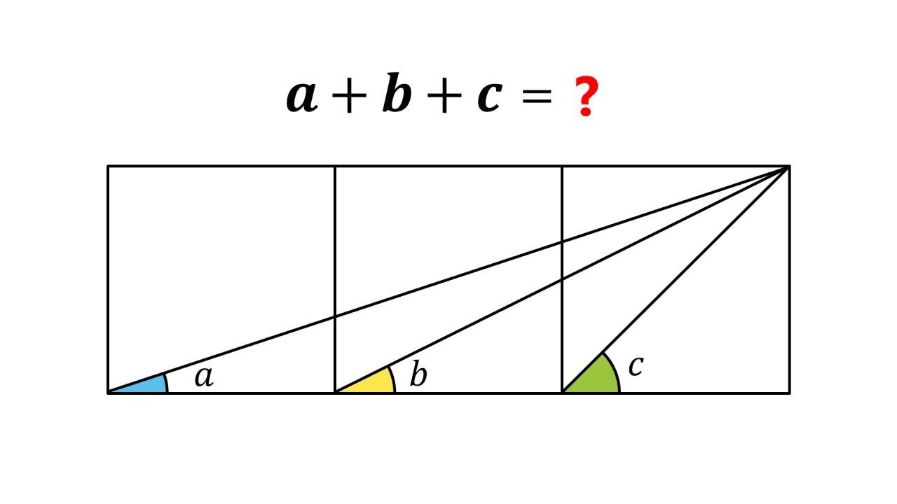 The interesting sum of three angles problem!