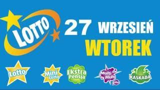 LOTTO WYNIKI (+wygrane): WTOREK 27 wrz 2016. Sprawdź wygrane!