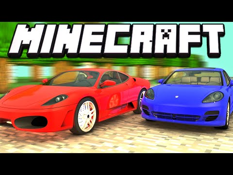 Minecraft - CARROS DE LUXO NO MINECRAFT - Flan's Mod