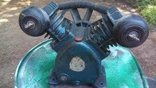 Air Compressor pump Restoration | Air Compressor pump repair and repaint