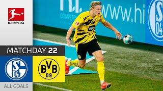 Beast Mode Haaland! FC Schalke 04 - Borussia Dortmund | 0-4 | All Goals | Matchday 22 – Bundesliga