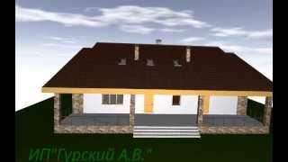 Проект спаренного дома (на 2-е семьи)