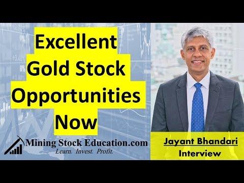 Excellent Gold Stock Opportunities Now   Jayant Bhandari
