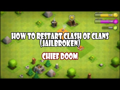 Create A New Clash of Clans Account Without Restoring (Jailbroken)