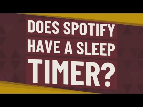 Does Spotify Have A Sleep Timer?