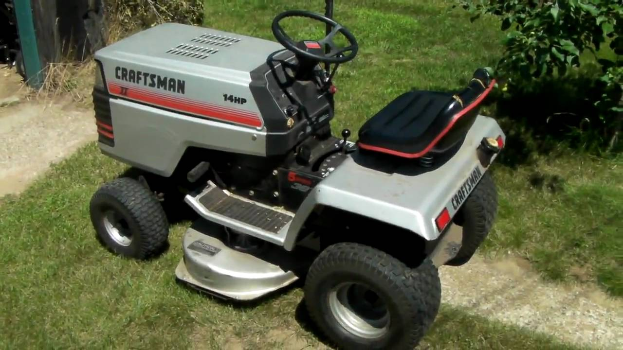 Craftsman Yt 14 Twin My New Toy Youtube