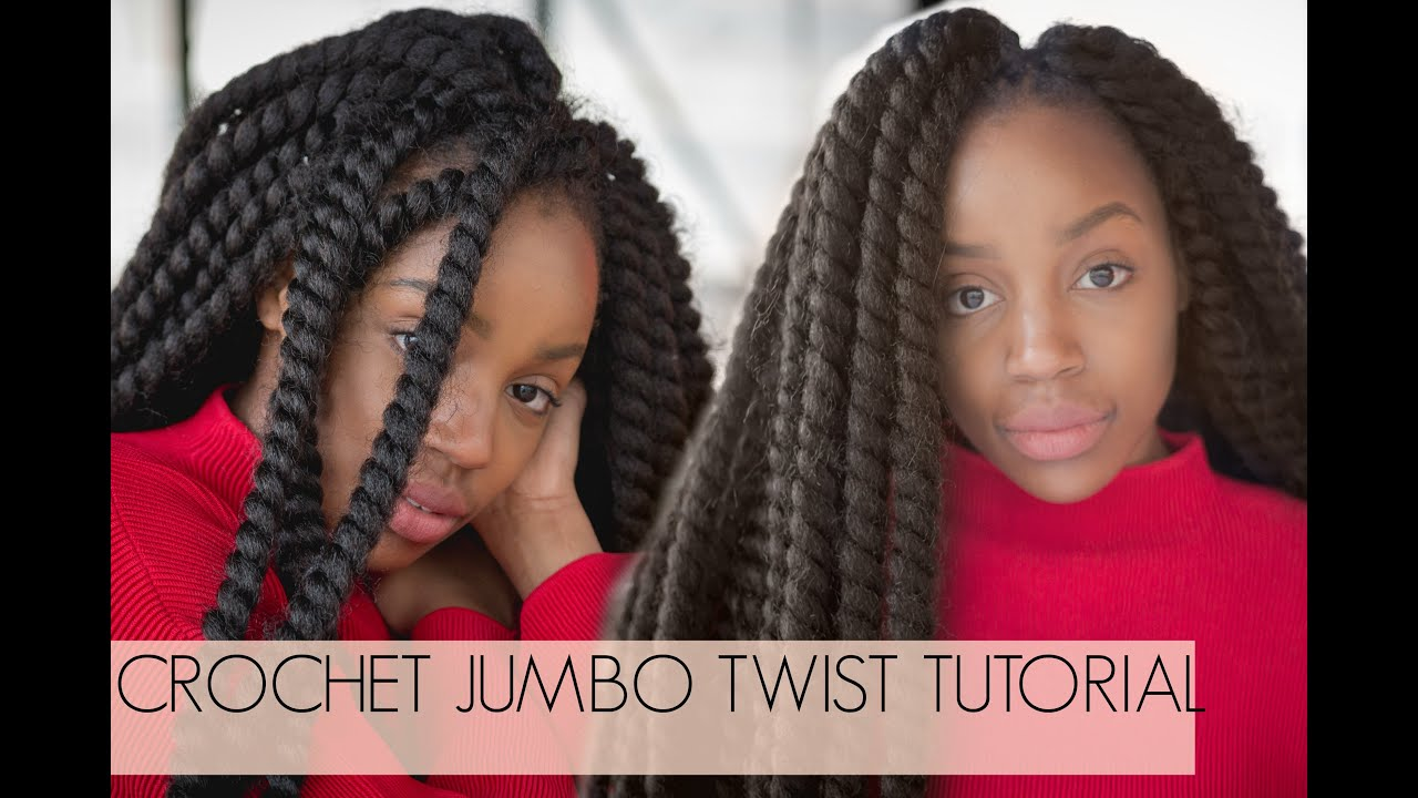 SUPER QUICK BRAIDS Crochet Jumbo Twists Cuban Mambo Twist Tutorial ...