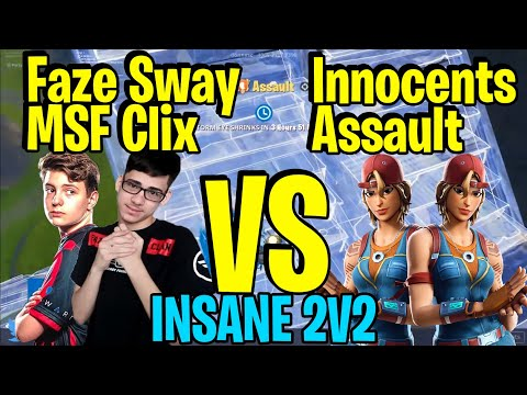 INSANE 2V2 Creative Zone Wars - MSF Clix & Faze Sway VS Ghost innocents & Ghost Assault