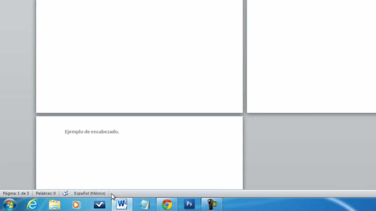 como quitar el encabezado en word mac
