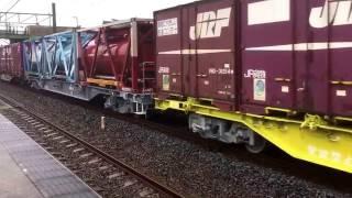 全検明けコキ110×5両込み貨物列車