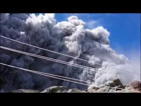御嶽山噴火の瞬間の映像