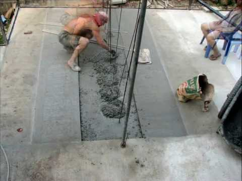 Finishing The Cement Floor