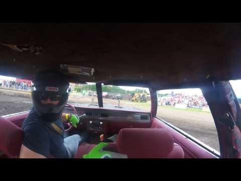 DuPage County Fair Demo Derby BS Heat 1 Joe Jackson In Car