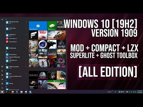WINDOWS 10 - COMPACT / SUPERLITE COMPACT [GAMING EDITION] [1909] [19H2] [X64/X86] - 03/20/2020