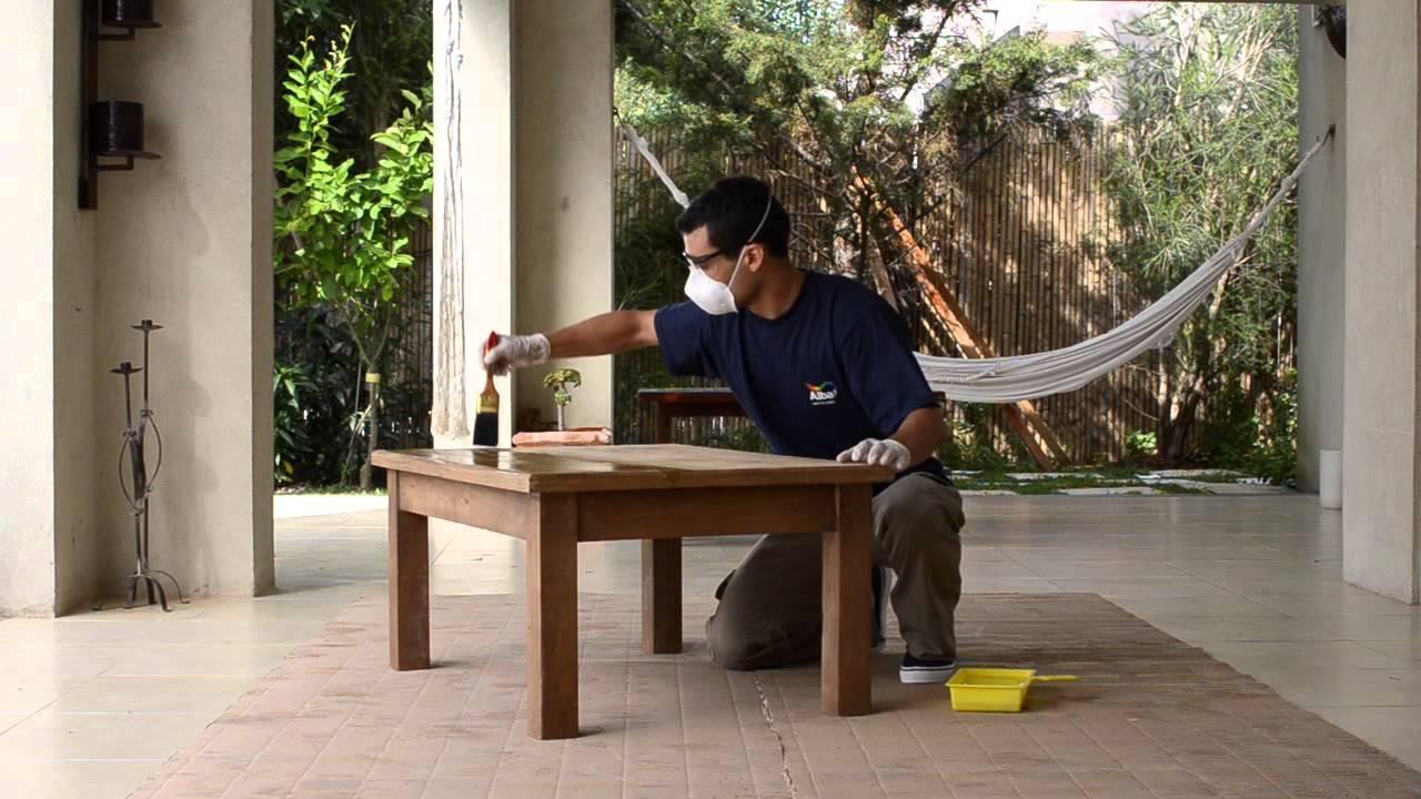 Tutorial c mo pintar 8 maderas con barniz youtube - Como pintar muebles de madera ...