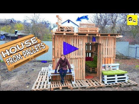 HOUSE FROM PALLETS - DIY