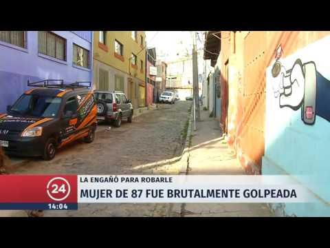 Abuelita de 87 años sufre brutal agresión de mujer que le pidió agua en Valparaíso