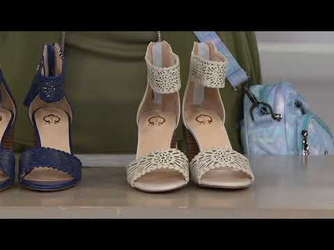 f032219f822 Vionic Orthotic Leather Perforated Flats - Surin on QVC - YouTube