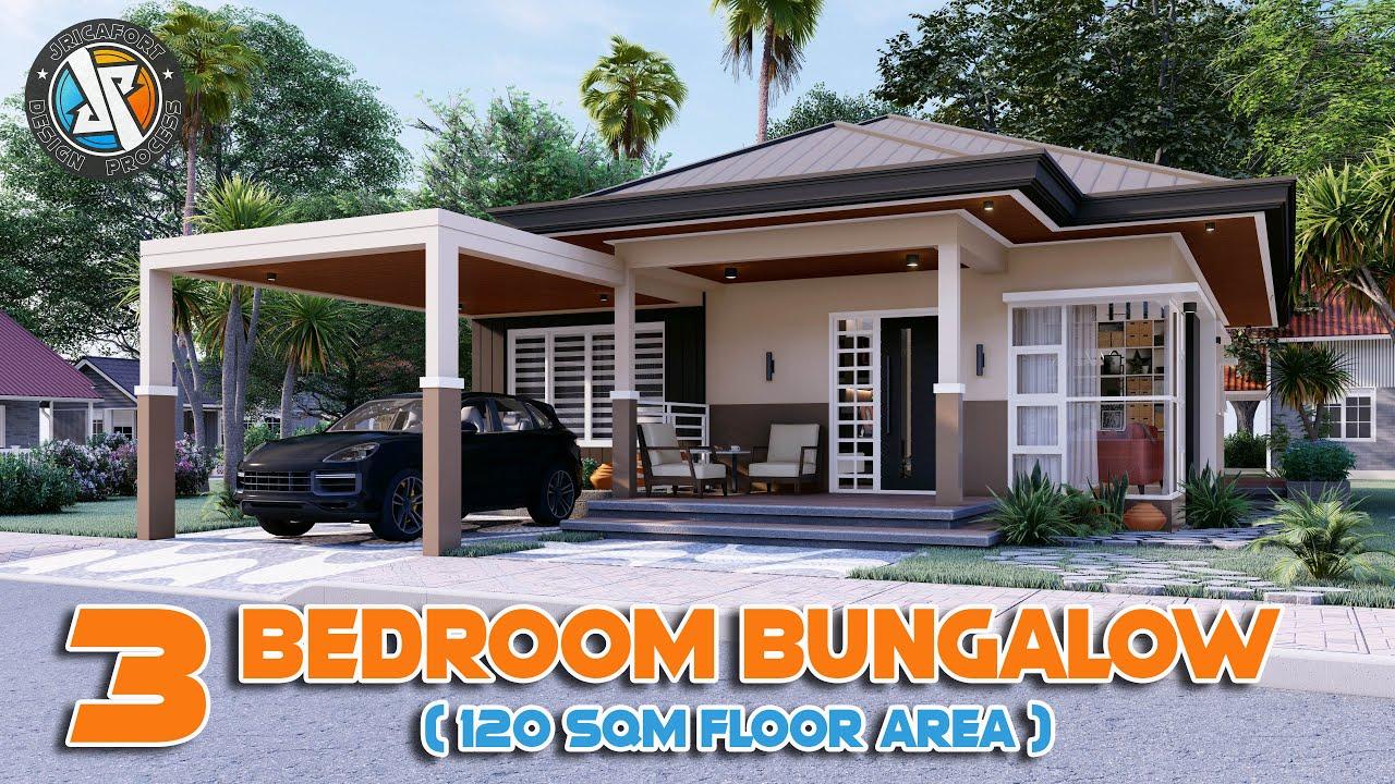 3 Bedroom Bungalow HOUSE DESIGN (120sqm) | Jricafort Design Process