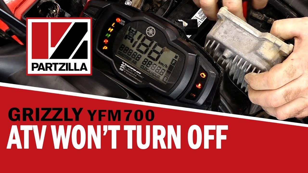 Help! My ATV Won't Turn Off   Yamaha Grizzly Ignition Switch Replacement    Partzilla com